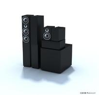 专业音响3D模型