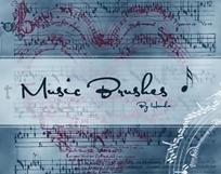 音乐乐谱PS笔刷下载