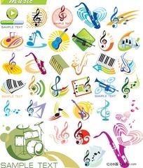 音乐主题图形矢量素材