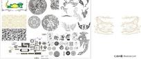 中式古典花纹素材