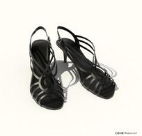 精美女式高跟凉鞋3D模型