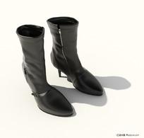 女式高跟靴子3D模型