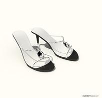 时尚女式高跟凉鞋3D模型
