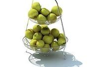 双层不锈钢水果篮3D模型