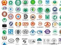 数百个认证标志打包矢量下载-CDR
