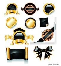 黑色系各种贴标及流行元素