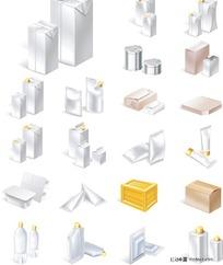 多款空白包装盒矢量素材
