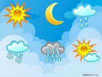 矢量天气符号图标