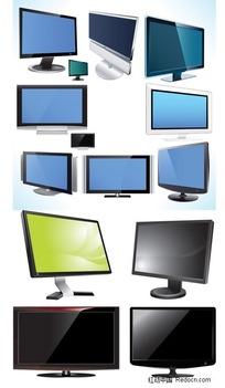 电视&显示器矢量素材
