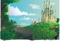 带城堡的风景