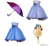 女孩裙子雨伞分层素材