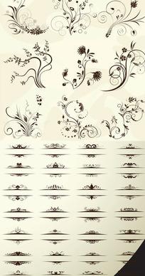 歐式花紋矢量素材