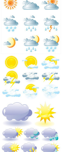 天气图标矢量素材