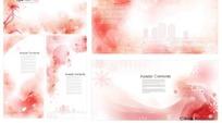 粉色花朵底纹背景