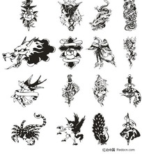 各种纹身动物