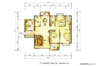 三室两厅户型平面图