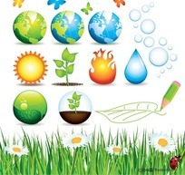 绿色环保图标矢量素材