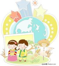 韩国儿童矢量素材