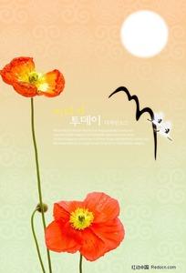 鲜花背景素材图片