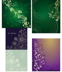 华丽、淡雅、神秘的花纹图案矢量素材