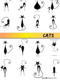 卡通猫咪矢量素材