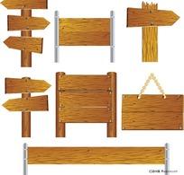精美写实的木质招牌矢量素材