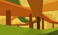立交桥图形背景素材