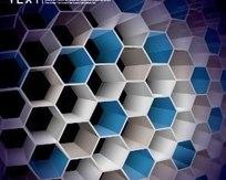 3D炫彩蜂巢文本框模板矢量素材002