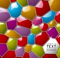 3D炫彩水立方文本框模板矢量素材003