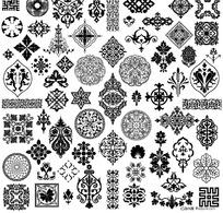 传统古典印花图案