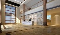 办公楼大厅3D模型(含贴图、光域网)