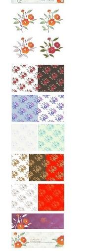 韩国花纹平铺背景AI矢量素材
