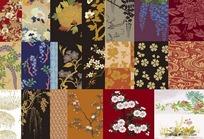日本传统矢量图案合集1-花卉植物(共22张)