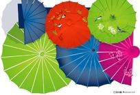 古典雨伞矢量素材