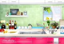 厨房各种用品摆件图片素材