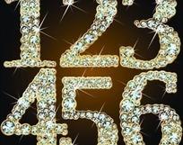钻石阿拉伯数字矢量素材图