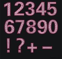 钻石字体 阿拉伯数字
