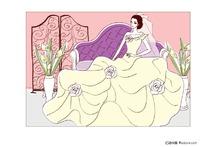 沙发上的新娘