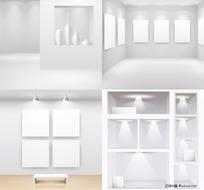 空白展厅展示画框