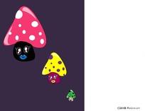 可爱蘑菇卡通人物形象