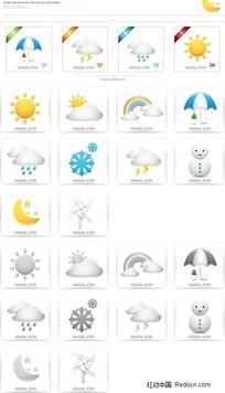 天气图标按钮