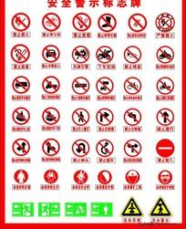 安全警示标识牌