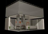展览展台展柜展示空间方块元素