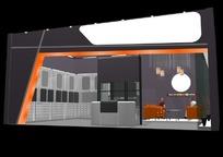 展览展台展柜展示空间单面式