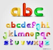 卡通创意字母