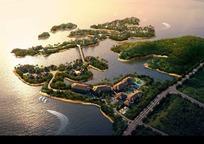 房地产楼盘鸟瞰图景观设计