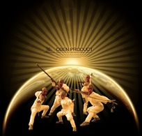 地球与光武术海报
