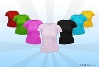 女生圆领文化衫图片素材