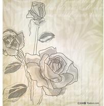 3朵玫瑰花花纹