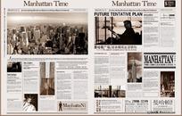曼哈顿广场地产报刊广告PSD分层模板